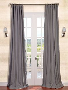 Weathered Grey Textured Linen Blend Curtain - great site and great prices!