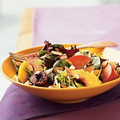 Great Summer Salads   Stone Fruit Salad with Toasted Almonds   CookingLight.com