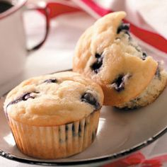 Blueberry Yogurt Muffins - made with whole wheat flour, Greek yogurt and coconut oil - delish