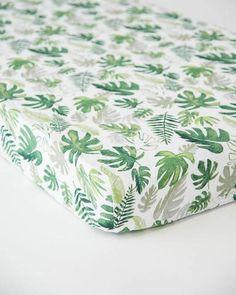 7822eb516db Cotton Muslin Crib Sheet - Tropical Leaf Tropical Sheets, Crib Sheets Boy,  Tropical Girl