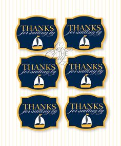 Nautical Baby Shower PRINTABLE Party Favor Tag from Love The Day. $8.00, via Etsy.