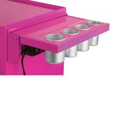 The Original Pink Box PB1PS Collapsing Side Shelf with Power Strip and Removable Aluminum Cups The  sc 1 st  Pinterest & Viper Tool Storage V1SPU Power Shelf for Salon Cart Purple ...