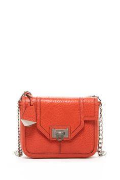 Rebecca Minkoff Alaina Shoulder Bag in Deep Orange