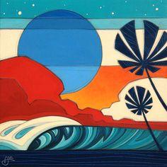 Need anything surf related? Surfboard Painting, Surfboard Art, Deco Surf, Easy Canvas Art, Art Sculpture, Wave Art, Surf Art, Office Art, Retro Art