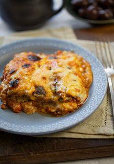 Greek-style lentil and eggplant bake - MediterrAsian.com  This dish look interesting, you should cook it sometime. I'm a vegetarian.