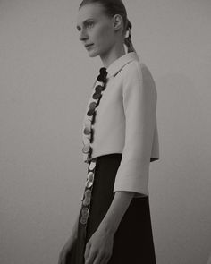 Christian Dior Haute Couture SS15 Black And White Collar