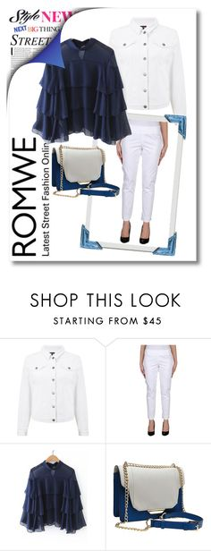 """""""ROMWE: Navy & White"""" by danceofthesoul ❤ liked on Polyvore featuring Phase Eight and Marella"""