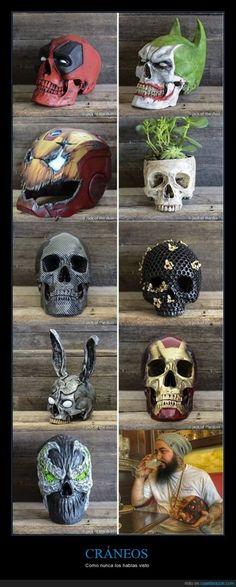 El de Deadpool es la leche - Cráneos como nunca los habías visto