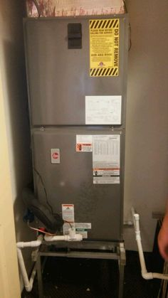 This Is A Picture Of The Old Air Handler Installed In The