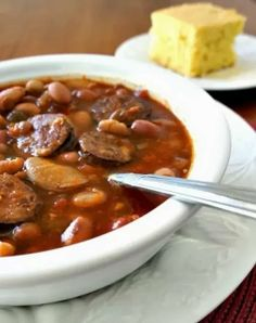 365 Days of Slow Cooking: Recipe for Slow Cooker Smokey 15 Bean Soup with Sausage (plus a giveaway)