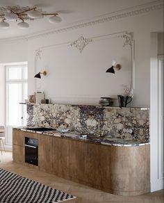 Interior Exterior, Luxury Interior, Kitchen Interior, Kitchen Decor, Interior Design, Marble Interior, Kitchen Sinks, Interior Photo, Kitchen Remodel