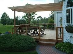 Image result for pergola over decking