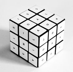 This is a really cool artistic interpretation of the Rubik's Cube.