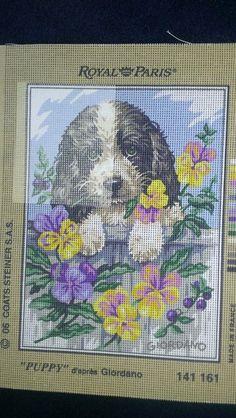 ROYAL PARIS  PUPPY & FLOWERS
