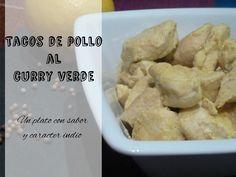 Receta: Tacos de pollo al curry verde, sabor indio