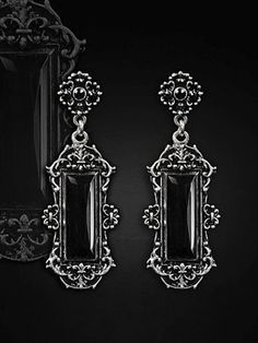 Barock Ohrringe Vivian Violett Smaragd Gothic Vintage Earrings Royal Rokoko