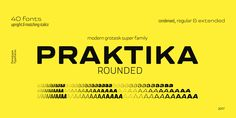 Praktika Rounded, font by Fenotype. Praktika Rounded can be purchased as a desktop and a web font. Great Fonts, Cool Fonts, New Fonts, Round Font, Font Shop, Font Face, Family Show, Sans Serif Fonts, Premium Fonts