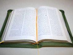 Green Arabic Language Luxury Leather Bound Bible