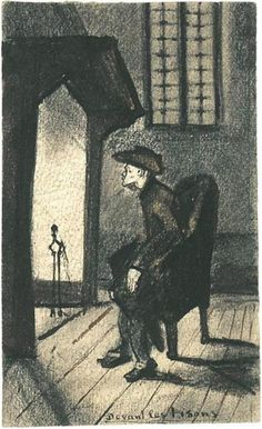 Before the Hearth by Vincent van Gogh - 806 - Drawing