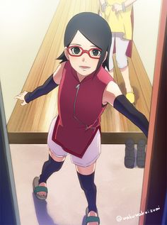 Naruto The Boruto Movie Fan Art ☆ Sadara Uchiha Anime Naruto, Naruto Shippuden, Naruto Girls, Sasuke Uchiha, Boruto And Sarada, Manga Anime, Naruto Art, Hinata Hyuga, Team 7