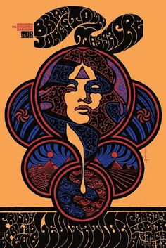 Brian Jonestown Massacre poster from the now cancelled Levitation 2016.