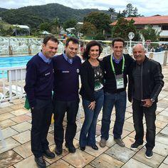 """""""#Encontro500: Com programa direto da Granja Comary, Fátima contou com a participação do @tino marcos , Júnior e outros convidados pra lá de especiais."""""""