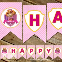 This beautiful Skye Paw Patrol Party Banner is great addition to the puppy birthday party Puppy Birthday Parties, Birthday Party Decorations, 5th Birthday, Birthday Ideas, Paw Patrol Birthday Girl, Paw Patrol Party, Happy Birthday Banners, Birthdays, Party Ideas