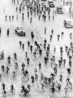 Cycling History Bicycle Commuters Melbourne