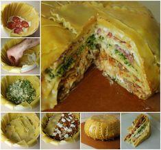 Awesome!  This Lasagna Timpano looks like a  cake! (y)  Get recipe--> http://wonderfuldiy.com/wonderfu-diy-amazing-lasagna-timpano/