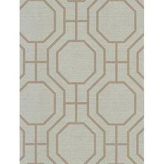 Beige and Gray Octagonal Pattern Wallpaper