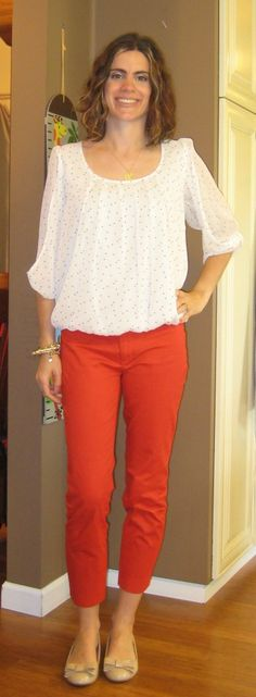Red Crop Pant