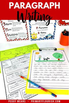 Paragraph Writing in the Writing Process Writing Lessons, Writing Process, Writing Resources, Writing Activities, Learning Resources, Teacher Resources, Teaching Paragraphs, Paragraph Writing, Teaching Strategies