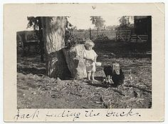 Citation: Jackson Pollock as a young boy feeding ducks., ca. 1914 / unidentified photographer. Jackson Pollock and Lee Krasner papers, Archives of American Art, Smithsonian Institution.