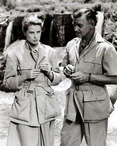 "Clark Gable and Grace Kelly ""Mogambo"""