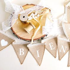 Comprar Banderin yute Bienvenidos Boda Baby Shoes, Banner, Kids, Buntings, Shower, Wedding Decoration, Burlap Bunting, Garlands