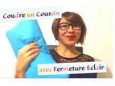 Tuto 14 couture - Coudre un coussin avec fermeture éclair - YouTube