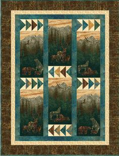 Mountain View Quilt Pattern UCQ-P48 (advanced beginner, lap and throw)