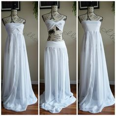 4 way to use Maternity chiffon gown closed by designbycboutique