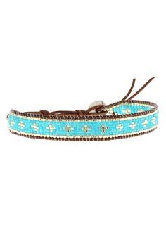 Chan Luu / Bracelet cuir et perles