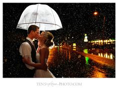 Rainy Day Weddings can still make a gorgeous shot!  In love with this photo <3