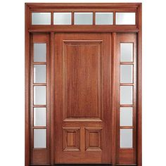 Shop for MAI Doors DLT21AP-1-2-T traditional entry door. Square Top 3-Panel Exterior Door in Mahogany with Two Sidelites with Transom. Unique exterior square top door with a 3-panel design with two sidelites Door is crafted from hand-selected Mahogany of the highest quality to ensure optimal performance and unmatched beauty This design is desired traditional
