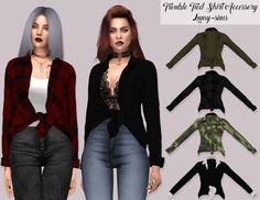 Trouble Tied Shirt Accessory by Lumy Sims for The Sims 4