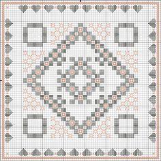 Peach Blossoms.  Perlée DMC Ecru line Color Variations line DMC 4120 and 4150
