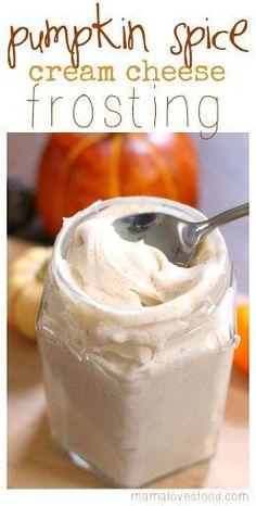 Pumpkin Spice Cream Cheese Frosting With Butter, Cream Cheese, Pure Vanilla Extract, Powdered Sugar, Pumpkin Pie Spice