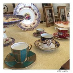 Time for tea after a busy weekend at ☕️☕️☕️ Antique Fairs, Tea Time, Antiques, Tableware, Dinnerware, Antiquities, Dishes, Antique, Place Settings