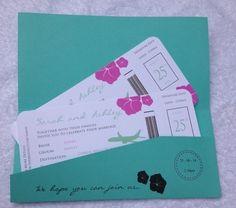 Personalised Handmade Abroad Luxury Wedding Invitation Sample
