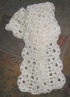 #32 Lush Crocheted Lace Scarf PDF Crochet Pattern #knitting #SweaterBabe.com