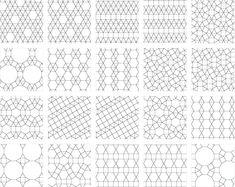 Tessellation -- from Wolfram MathWorld Plane Geometry, Solid Geometry, Sacred Geometry, Tessellation Patterns, Quilt Patterns, Regular Polygon, Origami Shapes, Tesselations, Paper Mosaic