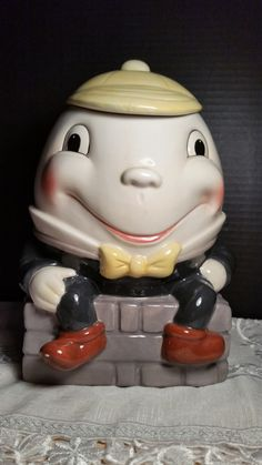 Humpty Dumpty Cookie Jar Rare Department by ShellysSelectSalvage