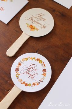 #free #thanksgiving #printables by Sweet Scarlet Designs – Give Thanks